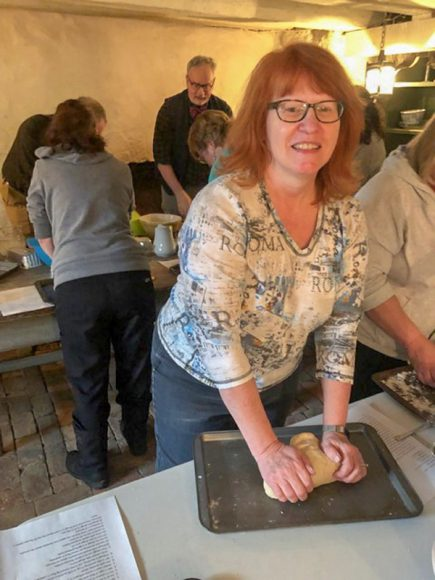 Sue Owens kneads bread to take home - Photo from Sue Owens v2