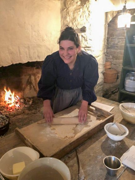 Valerie Garrett rolls out the scone dough - Photo from Sue Owens v2