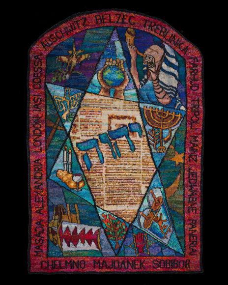 Stitched-Glass-Triptych-Judaic-WindowPhotoCreditjorjasphotography