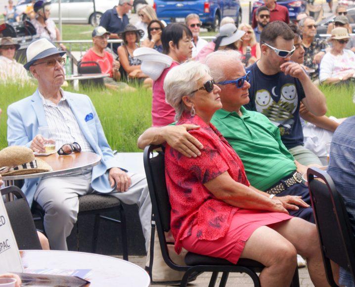 Crowds enjoying the music