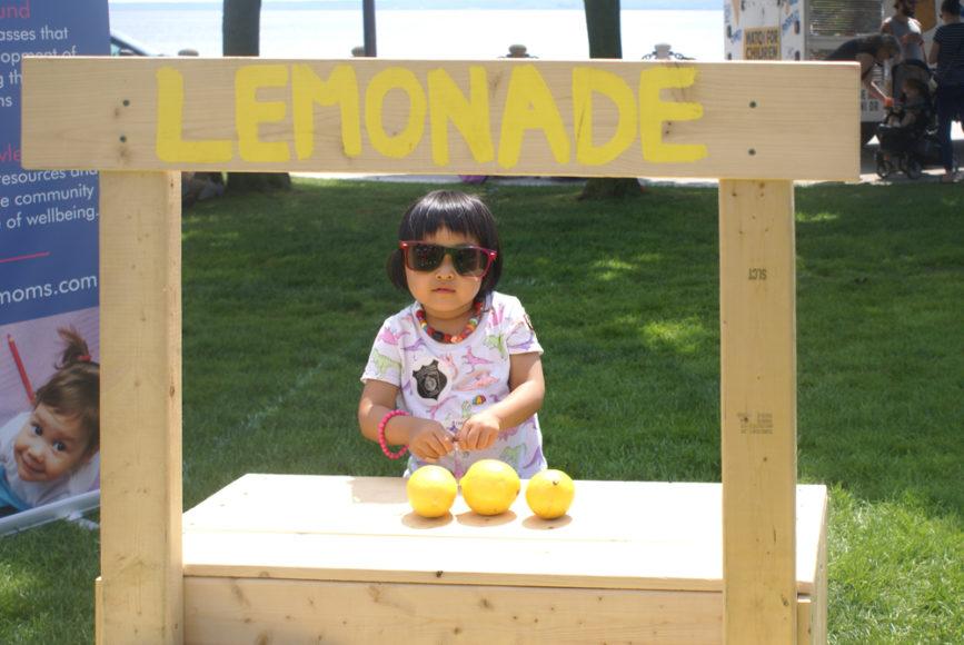 Nicole at the lemonade stand