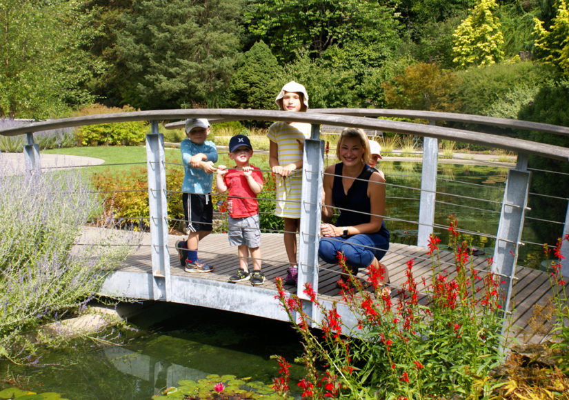 Smyth and Drew family's at the beautiful lower Rock Garden