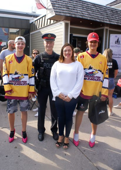 Eagles With Officer L'Ortye and Councillor Lisa Kearns