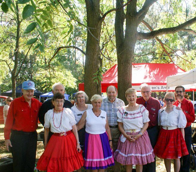 Square dancers: Richard, Eric, Marie, Eleanor, 2 Betty's, Bill, Myrna, Vern and Linda