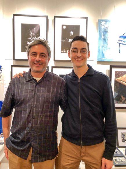 Photographer, Sam Kanga (left) and son, Harrison