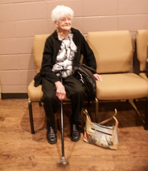 Organizer Lillie Utman at 99 years young.