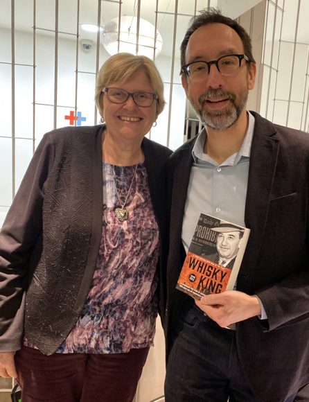 Fran Chesney, President of the GHS and award-winning author Trevor Cole