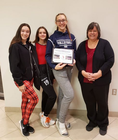 Best Walking Group - Expressions Dance Company L to R - Aliah Martin, Emily Mitchell, Andrea Doesburg, Parade Chair Robin Bradley