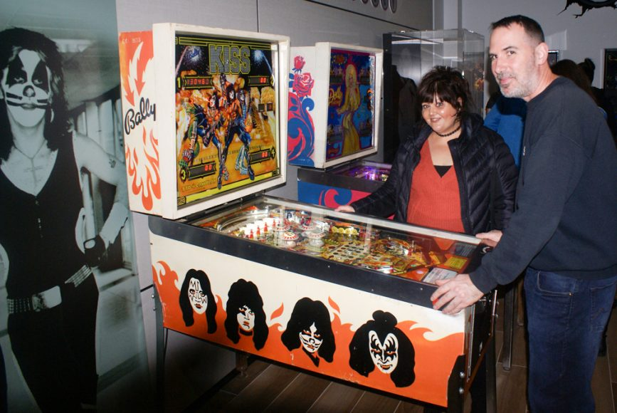 Pinball wizards Teri and Chris