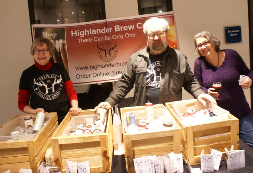 From Highlander Brew Co; Judy and Dwayne with Teresa.
