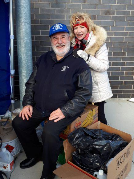 Optimist Mike Schmidt with Councillor Judi Partridge Ward 15 Flamborough