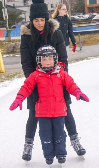 Skating the Ice Loop with a little help